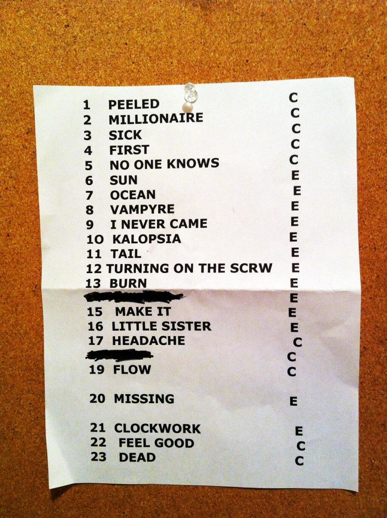 queens of the stone age wiltern setlist